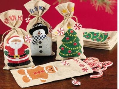 Bolsa de Yute para Obsequiar en Navidad - Ideas de Manualidades con Yute - Navidad 2016