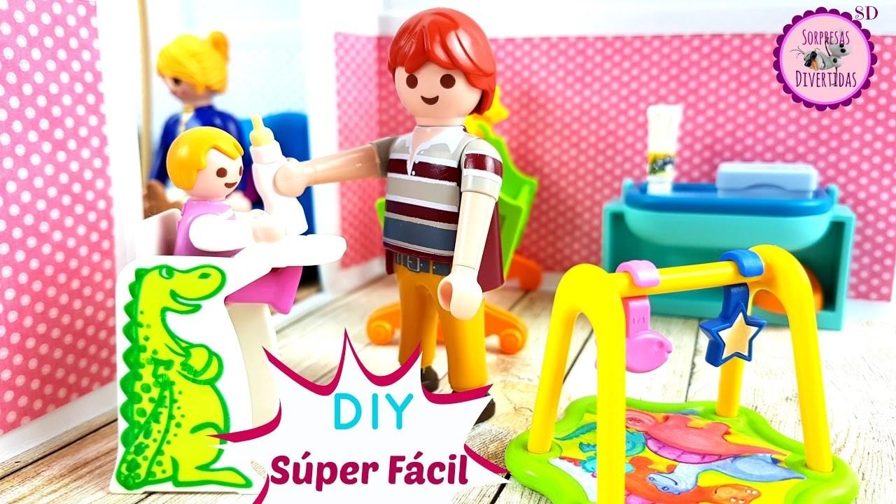Casita de muecas con cartulina para juguetes Playmobil