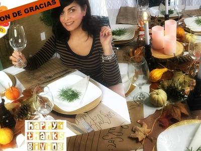 Como Decorar la Mesa en Acción de Gracias | DIY Thanksgiving Dinner Decor