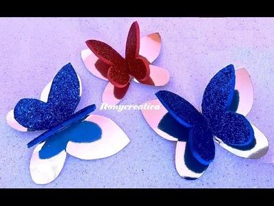 Cómo hacer mariposas para decorar el árbol de Navidad. DIY Christmas butterflies
