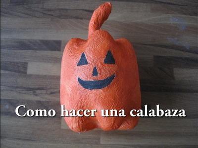 #DIY Como hacer una calabaza de halloween   #DIYHow to make a Halloween pumpkin