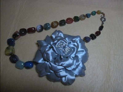 #DIY -#Flor espectacular para un collar#DIY#DIY - # Spectacular flower for a necklace # DIY