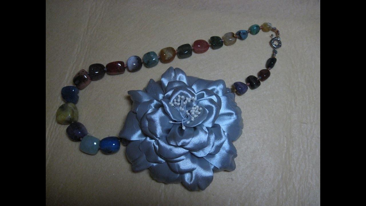 #DIY -#Flor espectacular para un collar#DIY#DIY - # Spectacular flower for a necklace # DIY