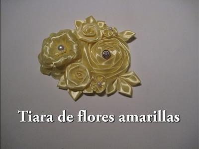 #DIY - Tiara de flores amarillas #DIY - Tiara yellow flowers