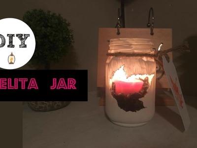 DIY Velita Jar Otoño