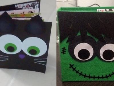 Especial de Halloween: mini album Frankenstein y Gato negro DIY muy fácil