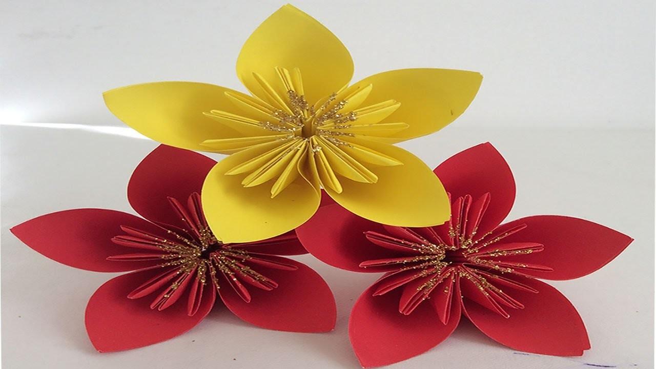 Flor de noche buena de papel decoraciones navide as - Decoraciones de papel ...