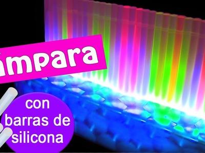 Manualidades: LAMPARA de LEDS con barras de silicona! - Innova Manualidades