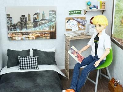 Nueva Habitacion de Adrien Cat Noir Muñeco Barbie Ken - Manualidades para Muñecas