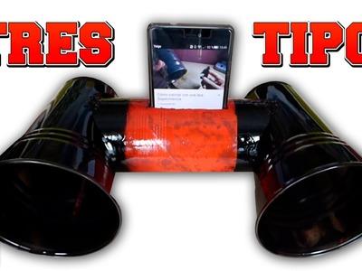 3 tipos de altavoces caseros para tu teléfono móvil