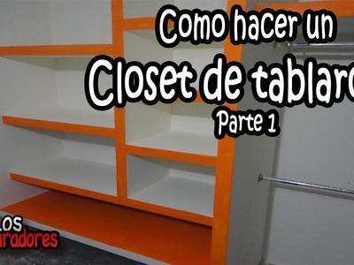 Como hacer Closet.Ropero de tablaroca Parte 1- Planeacion