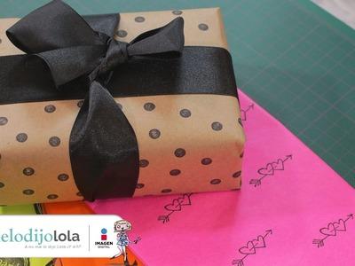 Cómo hacer papel para envolver regalos
