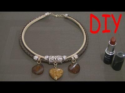Cómo hacer un Collar de Moda con dije de Corazón
