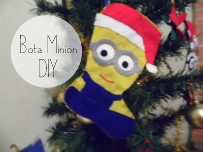 Cómo hacer una bota navideña de Minion