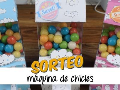 COMO HACER UNA MAQUINA DE CHICLES + SORTEO TRES MAQUINAS
