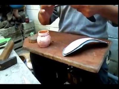 Cómo hacer una sandalia alta sin maquinaria, poca herramienta y montado con sus propios dedos