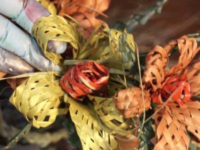 Creacion de flores del material natural