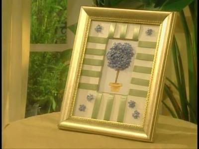 Cuadro Tridimensional de Flores y Cintas