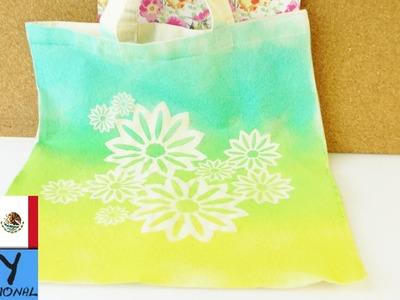 Decora tus bolsos de tela en sencillos pasos | Tutorial