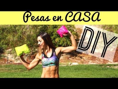 DIY Como hacer tus propias PESAS para RETO ABDOMEN | Naty Arcila |
