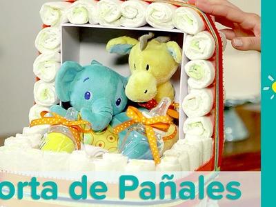 DIY Torta de Pañales para Baby Shower: Tema Coche de Bebé | Pampers