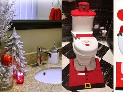 Ideas Para Decorar Tu Baño En Navidad. Ideas For Decorating The Bathroom For Christmas,