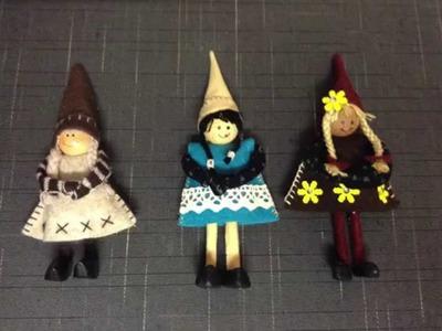 Manualidad muñecas de fieltro- Crafts Felt dolls-工藝品毛氈娃娃