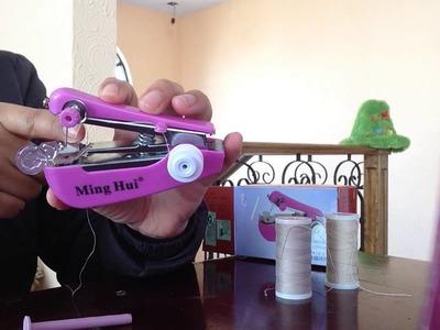 Máquina de coser portátil, como usar