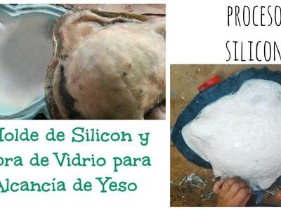 Molde de silicon y fibra de vidrio. Proceso Silicon