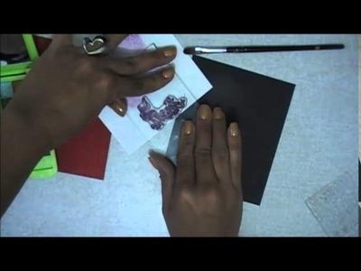 TUTORIAL sustituir los polvos de embossing con maquillaje Scrapbook Scrapbooking