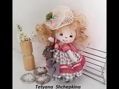 16 Muñeca de tela.Кукла из ткани.