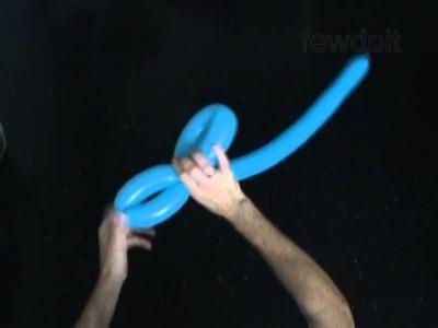 Cómo hacer flor sencilla con globos paso a paso (Globoflexia)