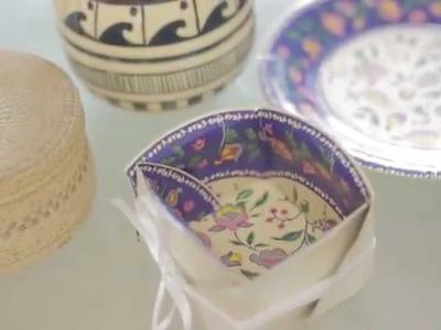 Cómo hacer recipientes con platos de cartón | @iMujerHogar