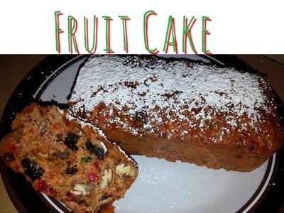 Cómo hacer un fruitcake. Postre para Navidad. Pastel de frutas. Christmas