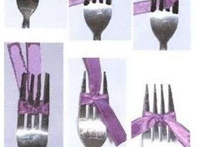 Como hacer un Lazo con un tenedor facil |AisaVenezuela