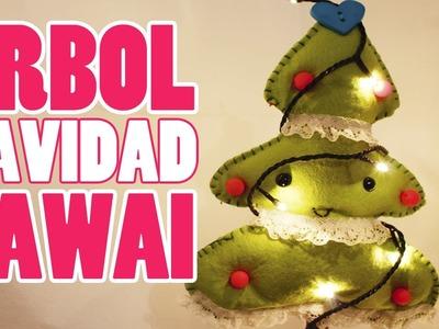 DIY Árbol de navidad de fieltro -KAWAI-
