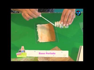 Efecto Nácar sobre acetato | Lidia Gonzalez Varela en Manos a la Obra