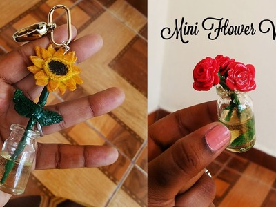 Floreros Miniatura en Porcelana Fría y Resina: Girasol & Rosas | Miniature Flower Vases Polymer Clay