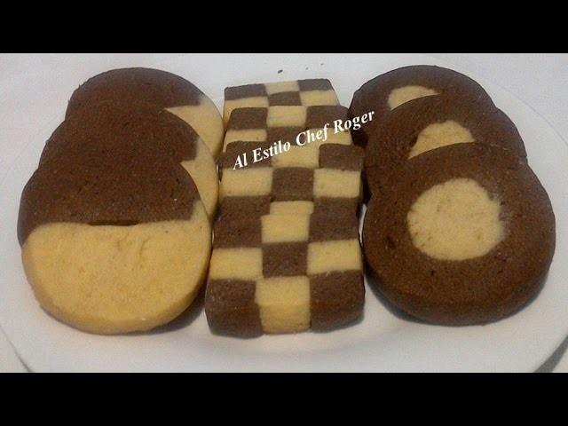 GALLETAS DE CHOCOLATE Y VAINILLA, Receta # 350, galletas de mantequilla