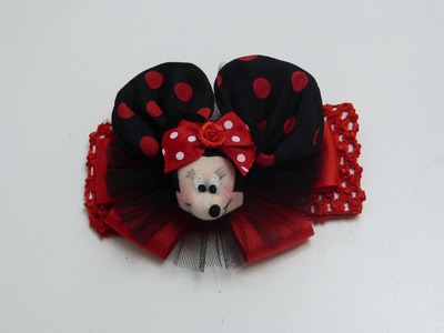 Moño, Lazo  Orejas de Minnie  Mouse, Tutorial para hacer un lazo Minnie Mouse. Perfect bows