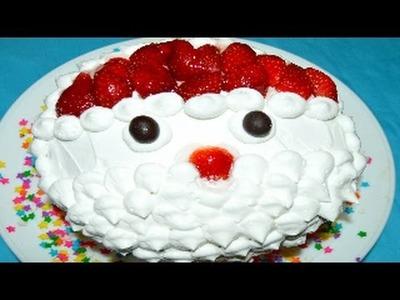 Pastel navideño Santa Claus sin HORNO y fácil.Christmas cake Santa Claus