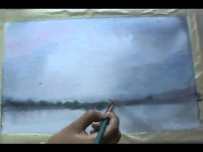 Pintar a la Acuarela -  La Acuarela en humedo