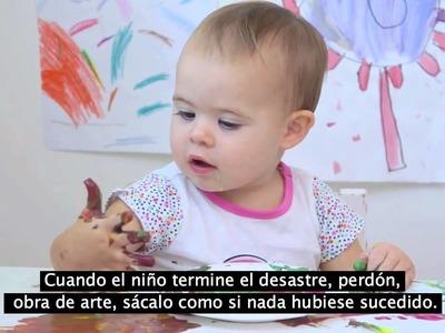 Trucos para cuando tu hijo juegue a pintar