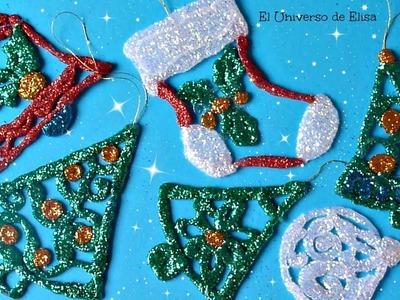 Adornos Navideños para el Árbol de Navidad con Silicona Caliente