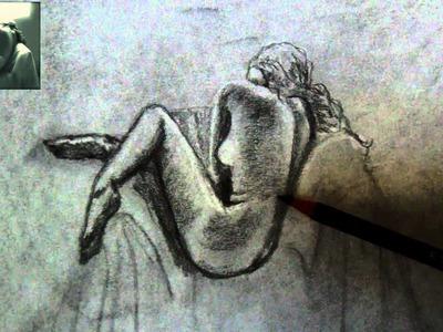 CÓMO DIBUJAR UN DESNUDO ARTÍSTICO? (TÉCNICA DE APAGAMIENTO O DIFUMINADO Y BORRADO)