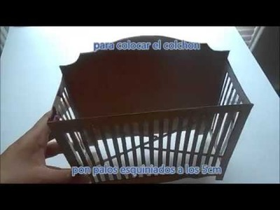 Como hacer una cuna para muñecas