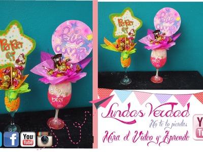 Diy: copas decoradas  facil - regalos de cumpleaños