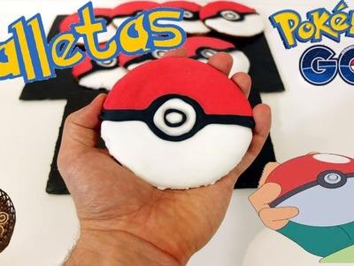 Galletas pokeballs , galletas de Pokemon. Pokemon Go en la cocina.
