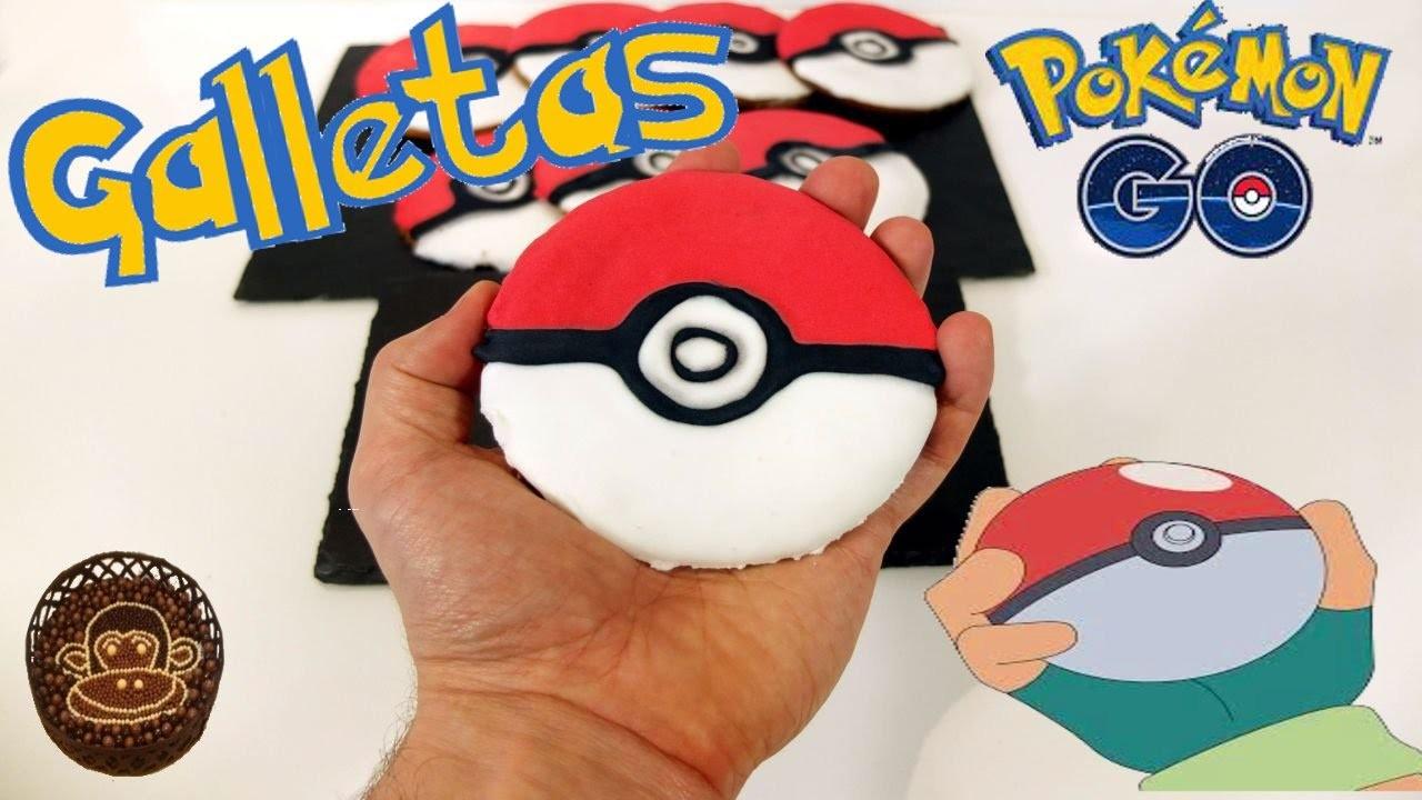 Galletas pokeballs , galletas de Pokemon. Pokemon Go en la cocina.