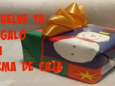 HOW WRAP A GIFT BOX. COMO ENVOLVER UN  REGALO CON FORMA DE CAJA